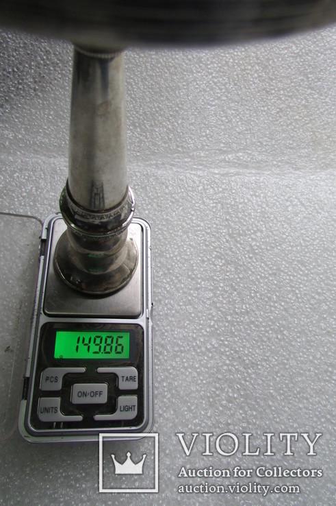Подсвечник. Серебро 800 проба . 150 грамм ., фото №13