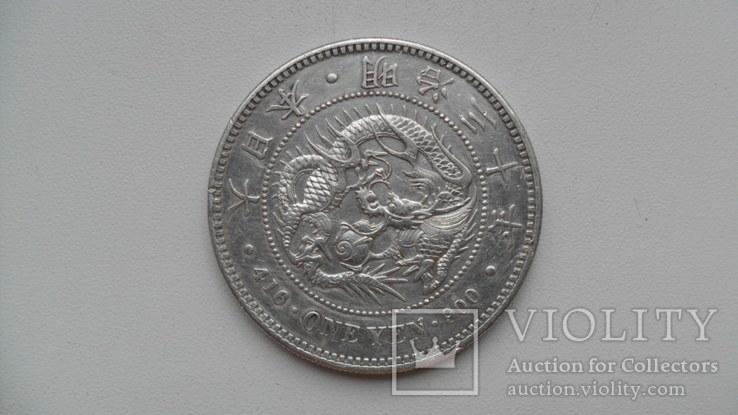 1 йена 1894 года Япония, фото №5