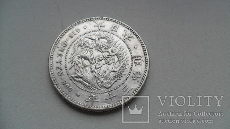 1 йена 1894 года Япония, фото №7