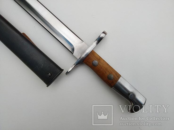 Штык Швейцарский образца 1918 года к винтовке Шмидта-Рубина Клеймо Victoria, фото №6