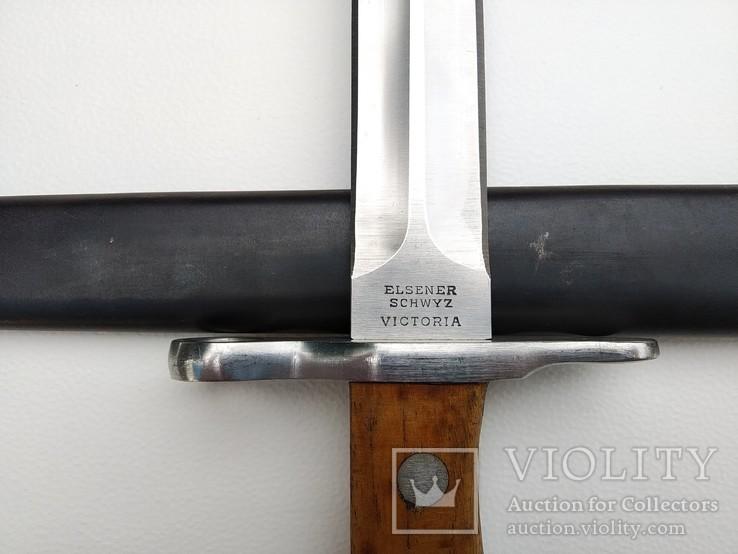 Штык Швейцарский образца 1918 года к винтовке Шмидта-Рубина Клеймо Victoria, фото №8