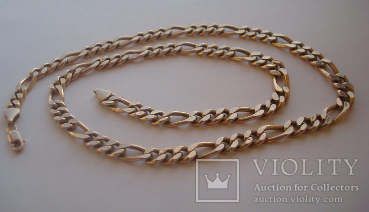 Золотая цепочка плетение Картье, фото №2