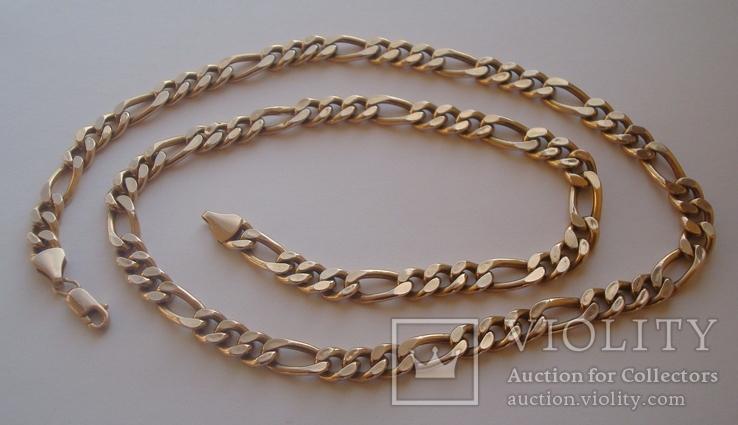 Золотая цепочка плетение Картье, фото №4