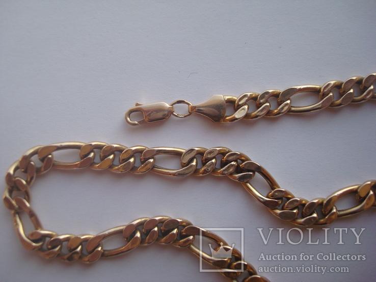 Золотая цепочка плетение Картье, фото №5
