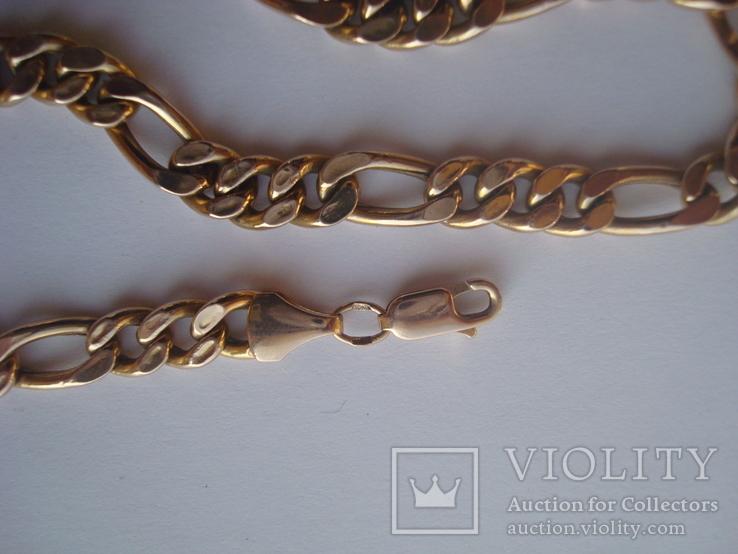 Золотая цепочка плетение Картье, фото №6
