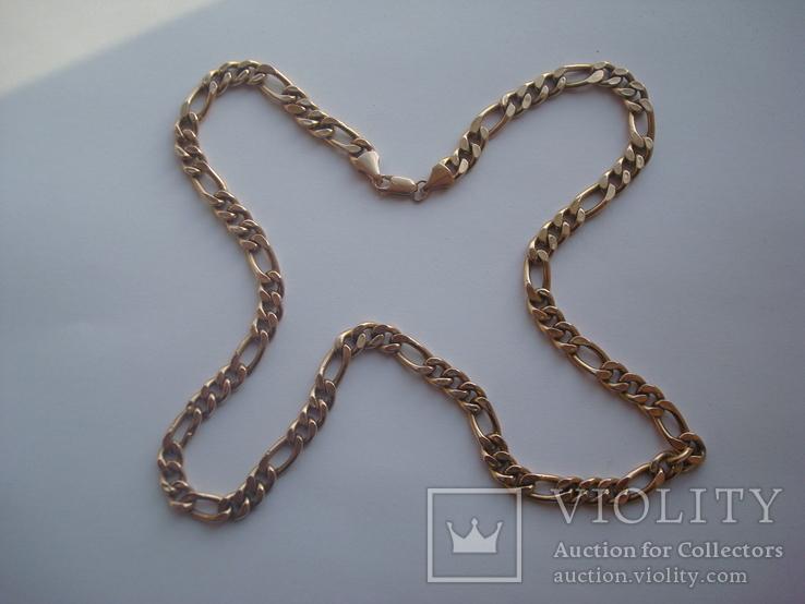 Золотая цепочка плетение Картье, фото №8