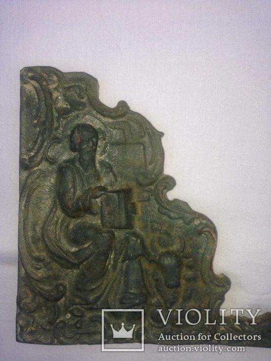 Бронзовый оклад (накладка?), фото №4
