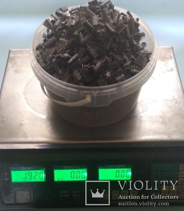 Микросхемы с содержанием драгметаллов 1.92кг, фото №3
