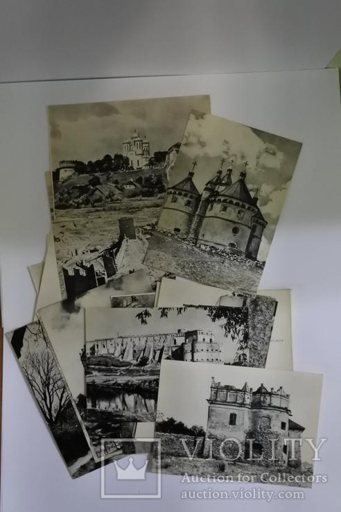 """Набор открыток """"Архітектурні пам'ятки україни фортеці та замки 13-17ст."""", фото №4"""