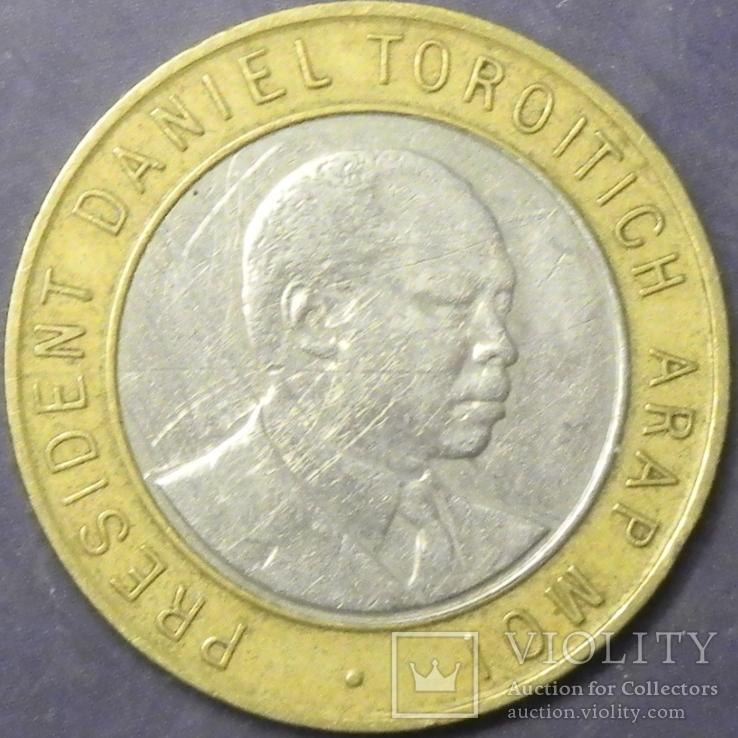 10 шилінгів Кенія 1995, фото №3