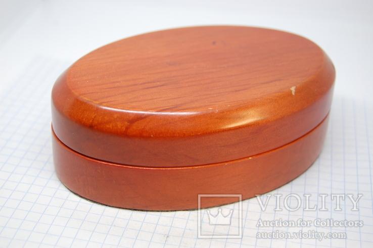 Коробочка овальная для сережек, комплекта, часов, браслета, фото №3