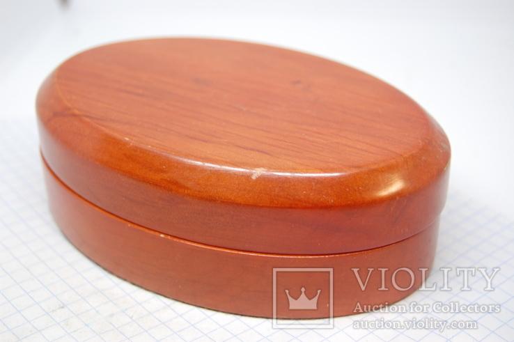 Коробочка овальная для сережек, комплекта, часов, браслета, фото №4