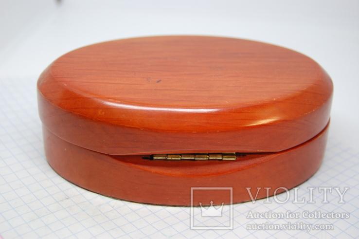 Коробочка овальная для сережек, комплекта, часов, браслета, фото №5