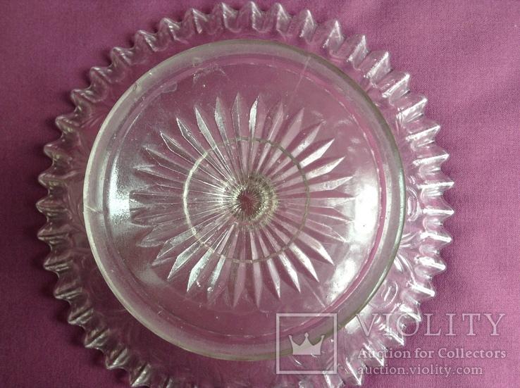 Вазы - конфетницы на ножке.  Мальцевское стекло. Россия, до 1917 г., фото №10