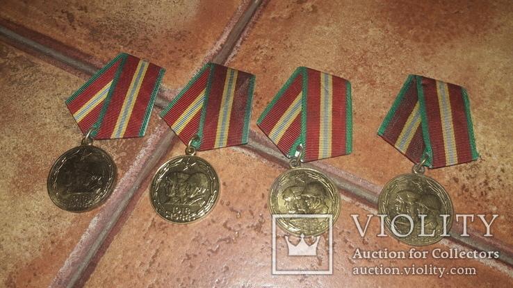 Медаль 70 лет вооружённых сил СССР 4шт, фото №2