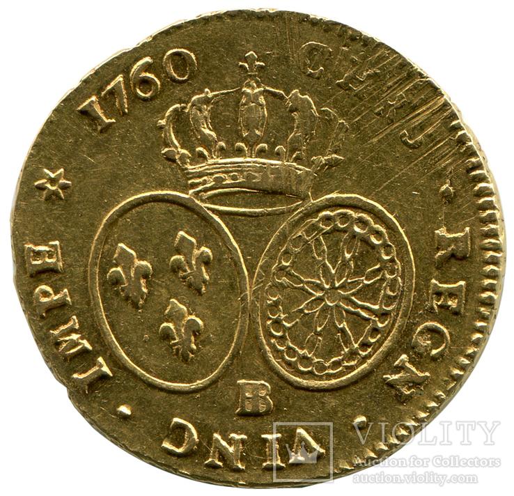 2 Луидора 1760г. Франция, фото №3