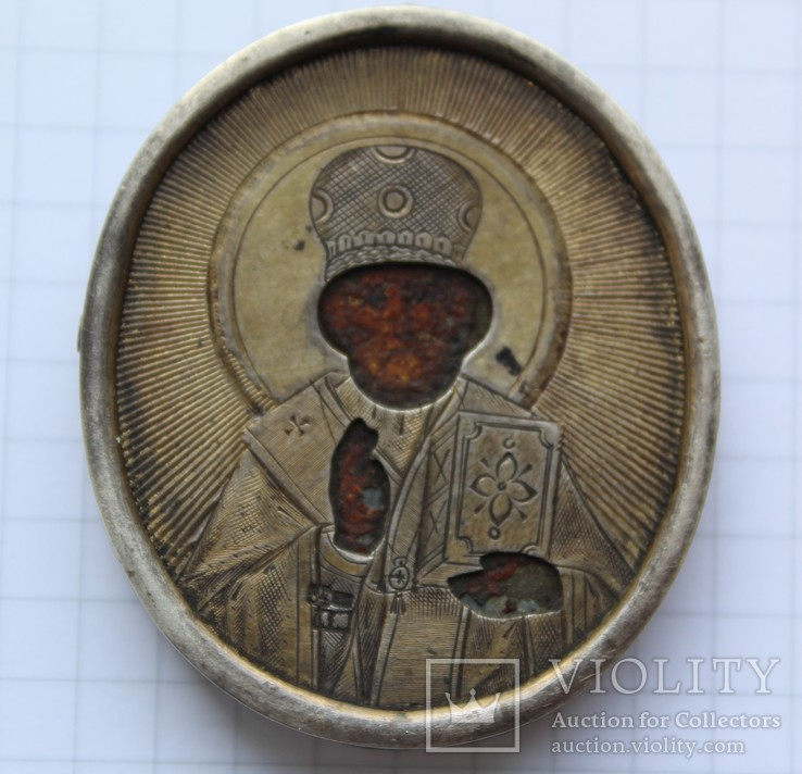 Икона Ладанка Николай Чудотворец 84 пр ИМ