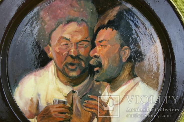 """""""Два приятелі"""" D-21см. Нецветаєва Ю. 2004, фото №5"""