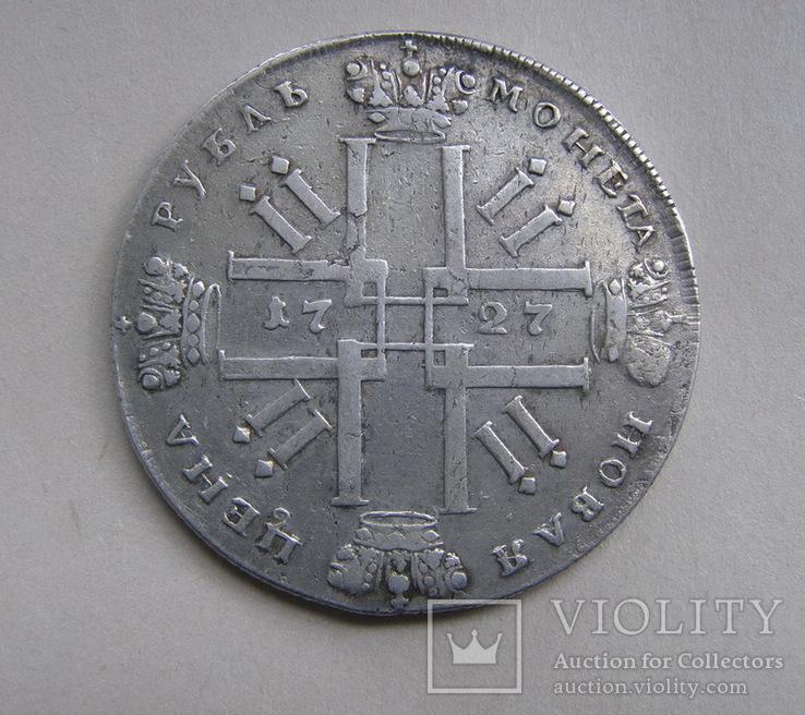 Рубль 1727 СПБ, фото №3