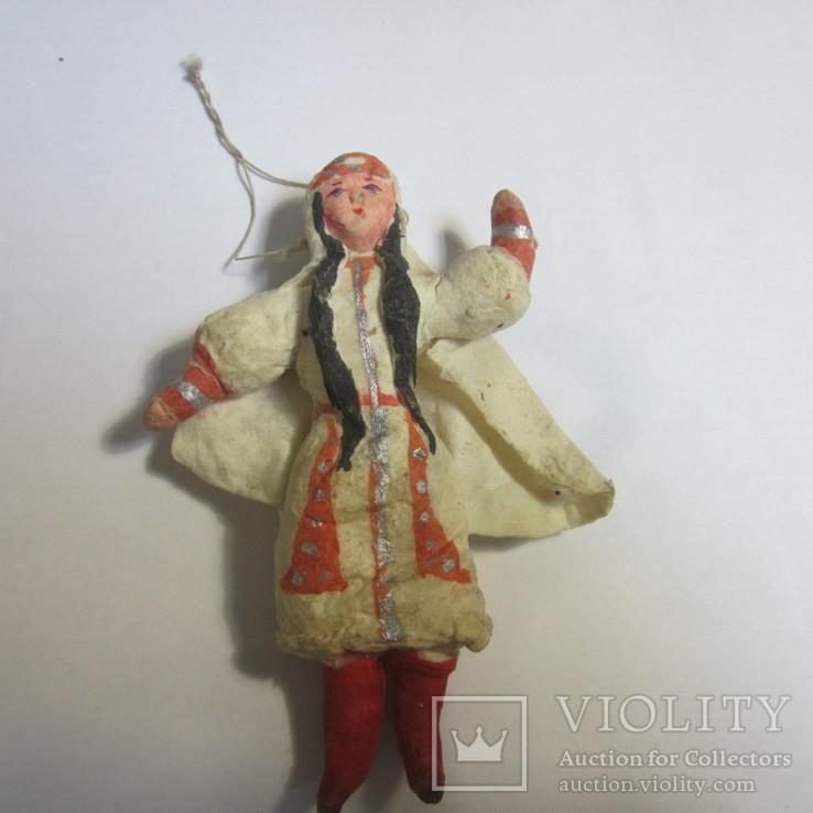 Елочная игрушка. Азиатка (вата), фото №2