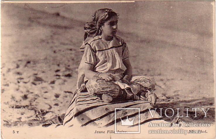 Типы евреев ,девочка ,Иудаика Евреи 1917 г, фото №2