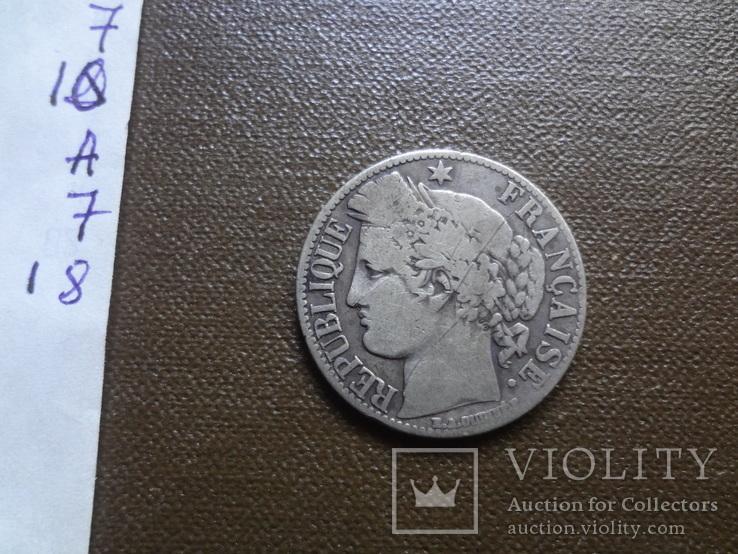 1 франк 1872  Франция   серебро     (А.7.18)~, фото №4