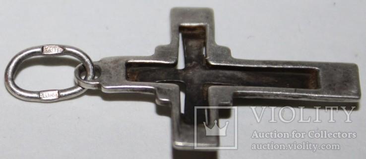 Серебрянный католический крестик (трезубец.,925 проба) Украина, фото №4