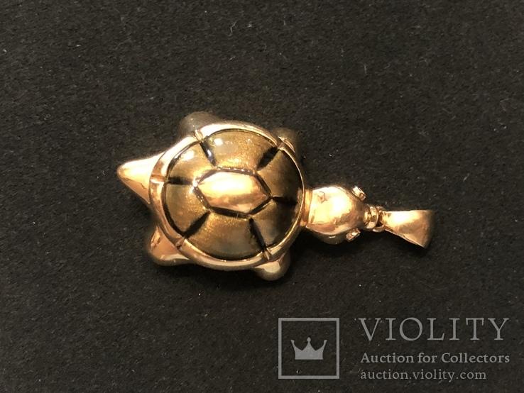 Кулон Черепаха. Золото 750 проба, фото №3