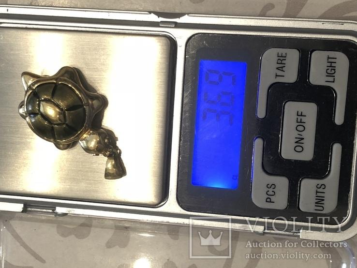 Кулон Черепаха. Золото 750 проба, фото №8