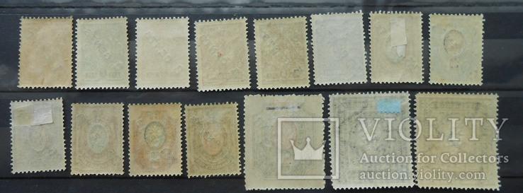 Русский Левант. Китай. Надпечатка нового номинала. 15 марок.  (*) (**), фото №5
