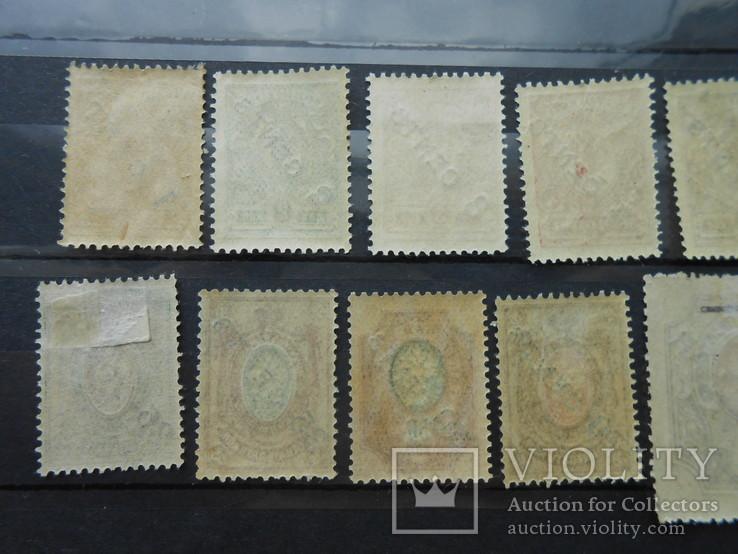 Русский Левант. Китай. Надпечатка нового номинала. 15 марок.  (*) (**), фото №6
