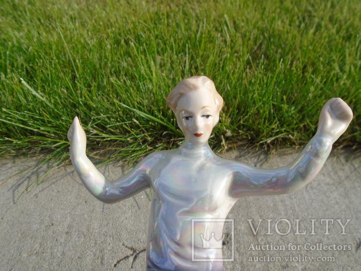 Фарфоровая фигурка статуэтка Футболист ГДР, фото №6