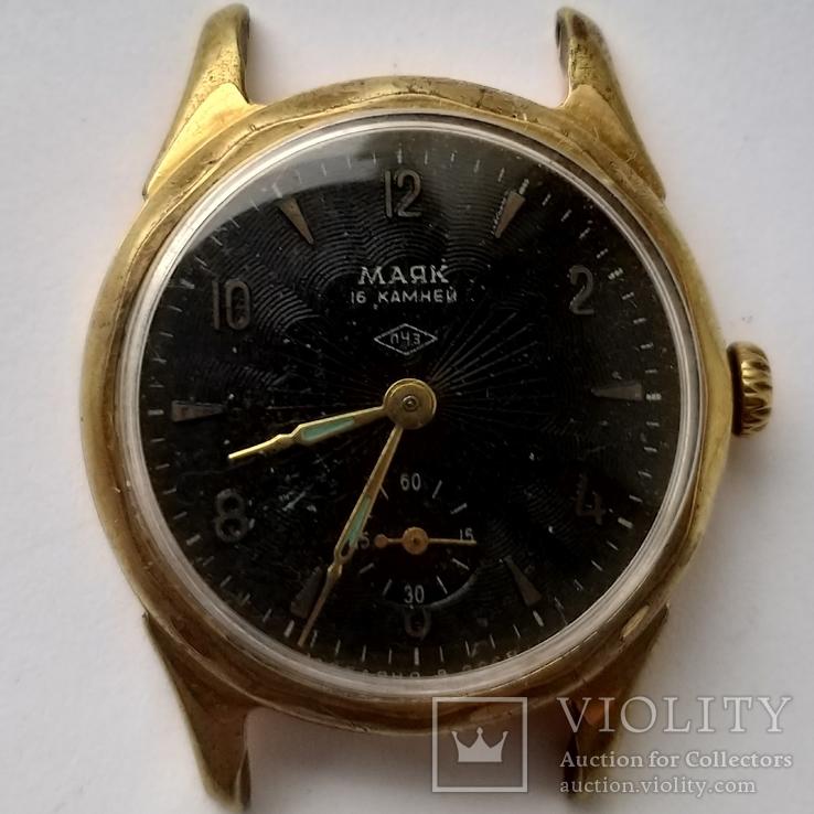 Часы Маяк позолота Au в ромбе