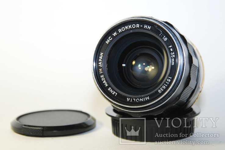 MC W.ROKKOR HH 35mm F1.8 перероблений на систему CANON EF з нескінченністю., фото №3