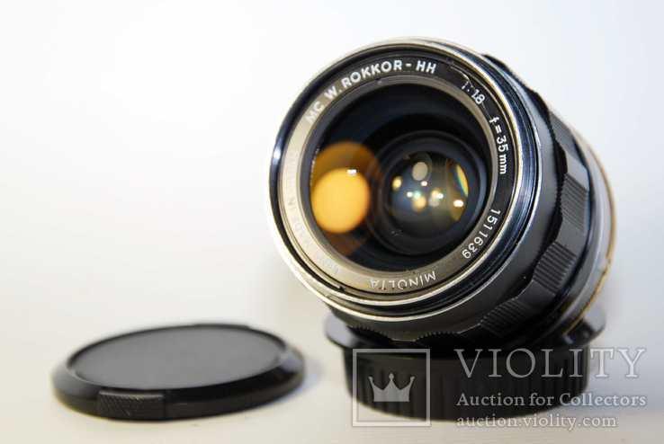 MC W.ROKKOR HH 35mm F1.8 перероблений на систему CANON EF з нескінченністю.
