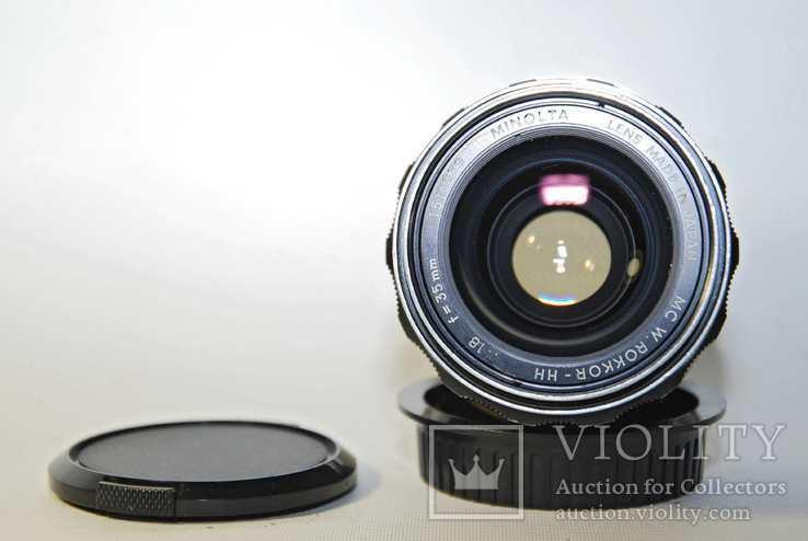 MC W.ROKKOR HH 35mm F1.8 перероблений на систему CANON EF з нескінченністю., фото №8