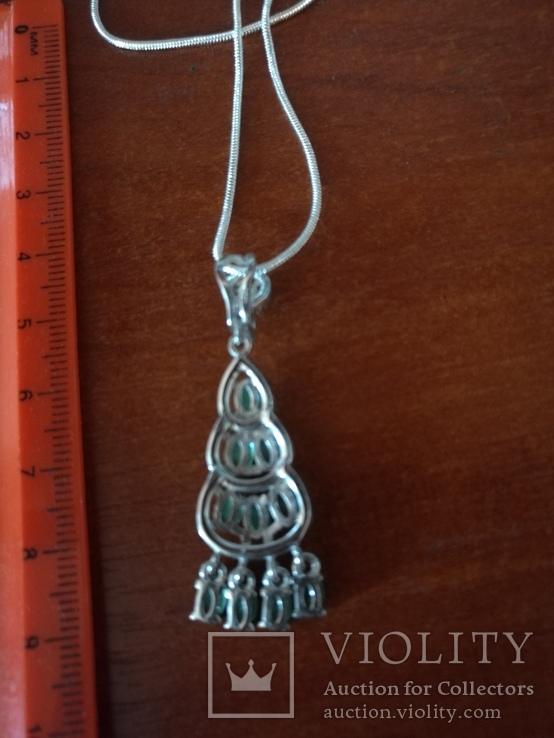 Ожерелье с прозрачными изумрудами, фото №4
