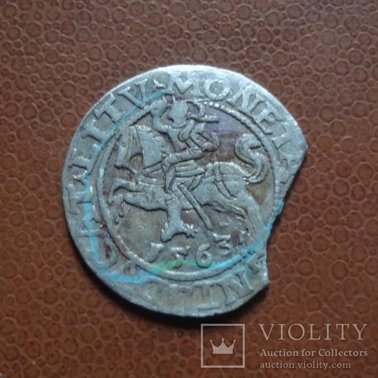Полугрош  1563  серебро  (М.5.28), фото №2
