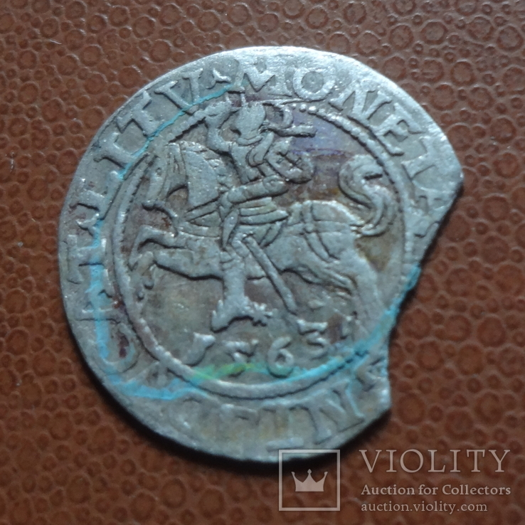 Полугрош  1563  серебро  (М.5.28), фото №3