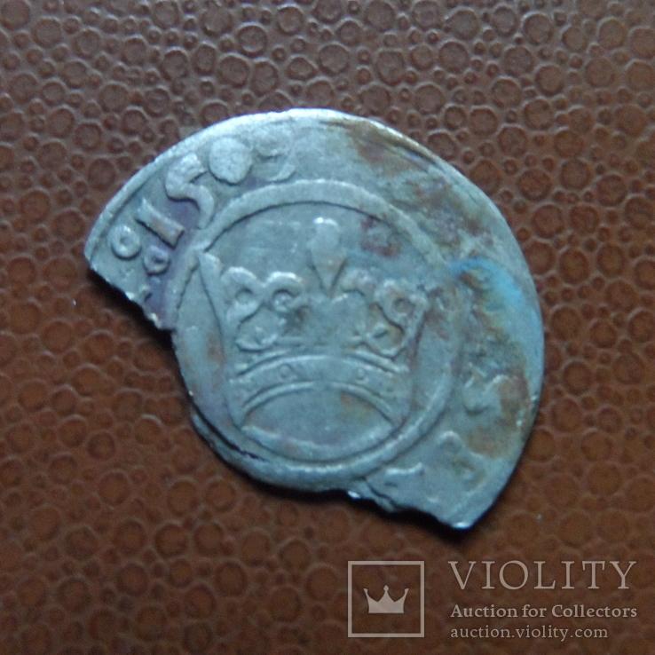Полугрош 1509  коронный   серебро   (М.4.24)~, фото №2