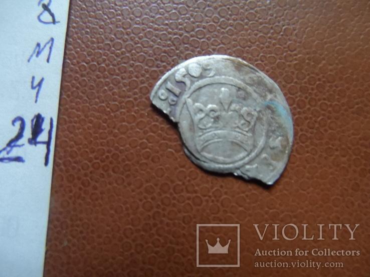Полугрош 1509  коронный   серебро   (М.4.24)~, фото №5