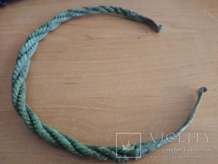Шейная гривна КР (серебро 125гр, не чищена)