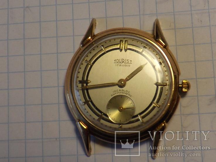 Наручные часы в позолоте - Tourict.  Швейцария.