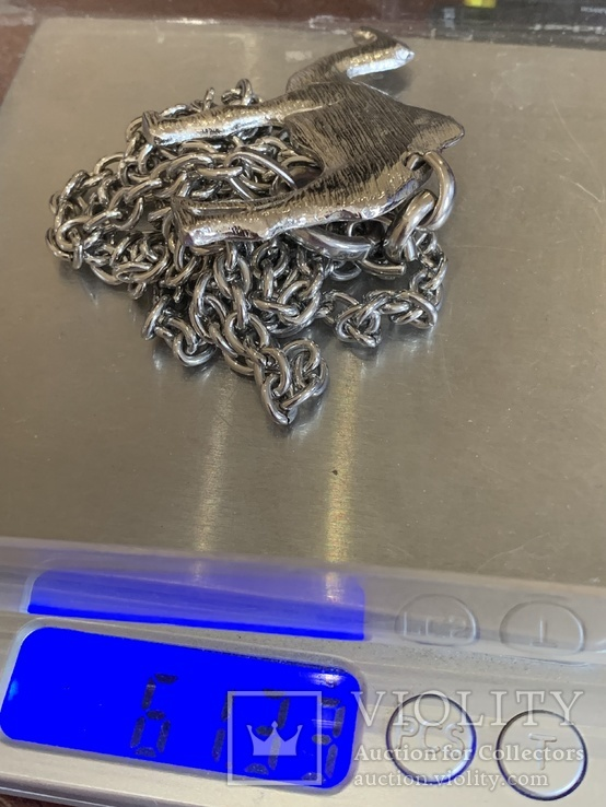 Большой кулон Верблюд на цепочке 61 грамм, фото №5