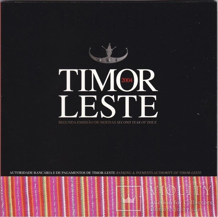 Timor Тимор - mint set 1 5 10 25 50 Centavos 2004 UNC набор 5 монет в буклете JavirNV, фото №3
