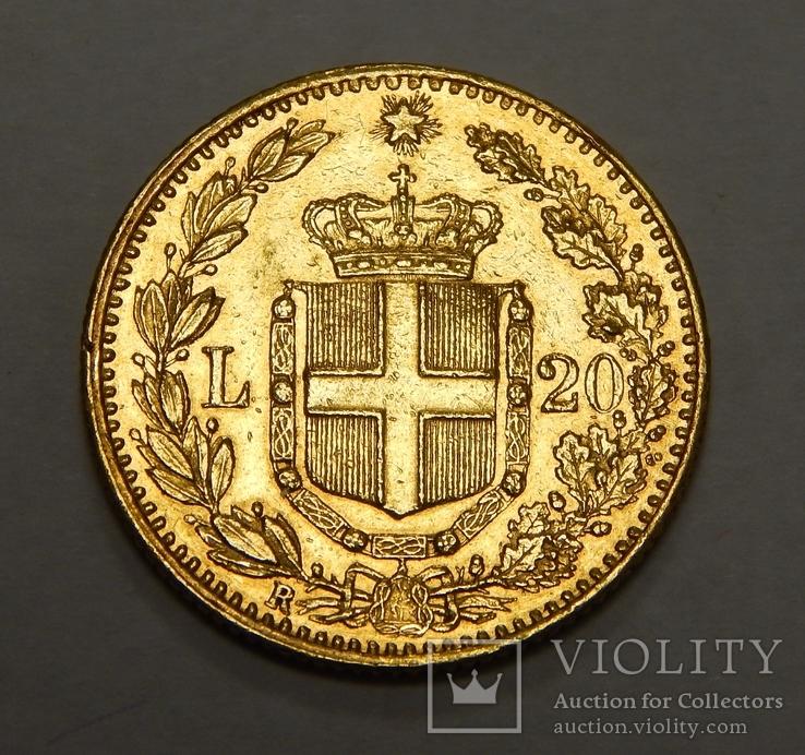 20 лир, Италия, 1882 г