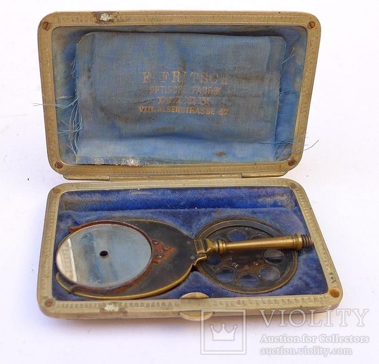 Старинное приспособление для фотодела в футляре. F. Fritsch, photo number 2