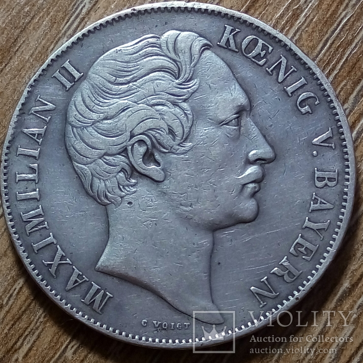 Бавария 2 гульдена 1851 г., фото №3