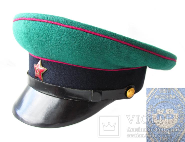 Суконная фуражка пограничных войск КГБ образца 1953г. клеймо 1967г., фото №2