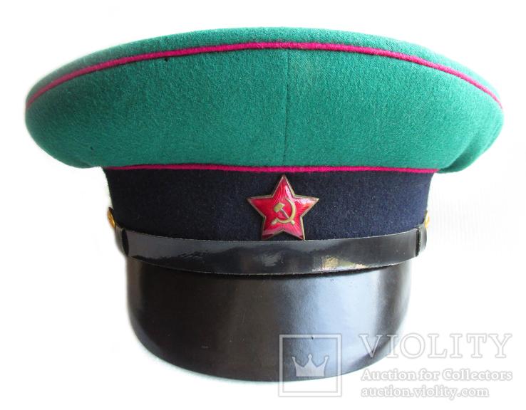 Суконная фуражка пограничных войск КГБ образца 1953г. клеймо 1967г., фото №5